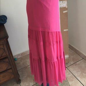 Dresses & Skirts - Cynthia skirt. Hot pink silk chiffon  bias style